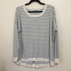 GAP striped circle hem wool blend sweater AV7